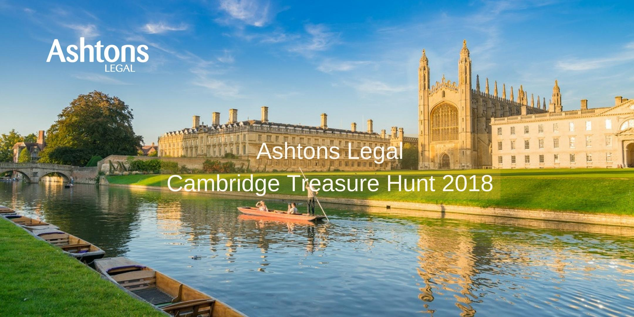 Ashtons Legal Cambridge Treasure Hunt