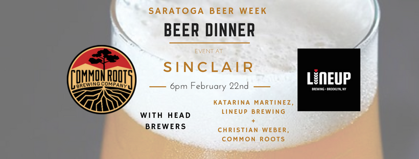 Beer Dinner with LINEUP and Common Roots Brew