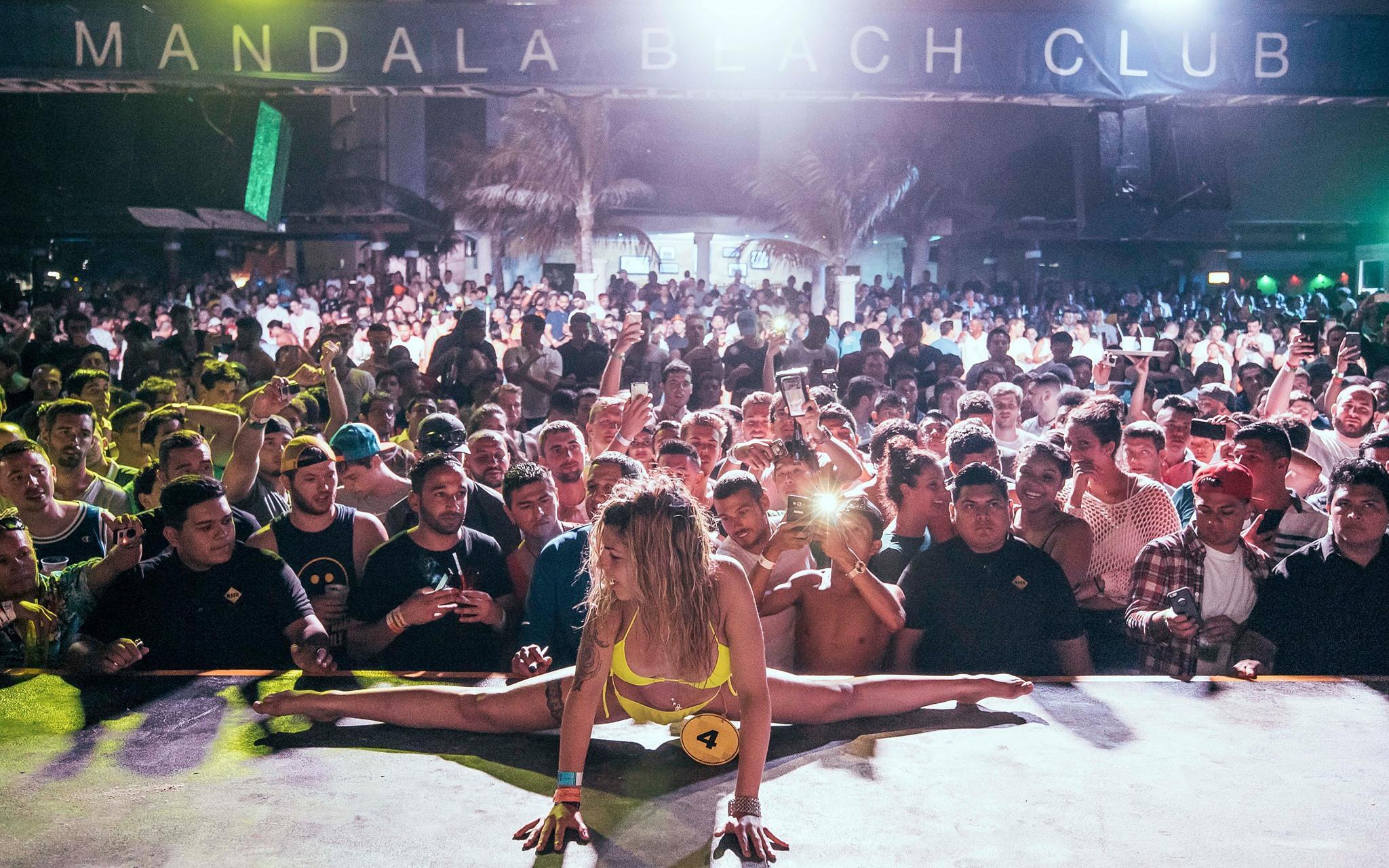 Mandala Beach Night Cancun Spring Break Open Bar