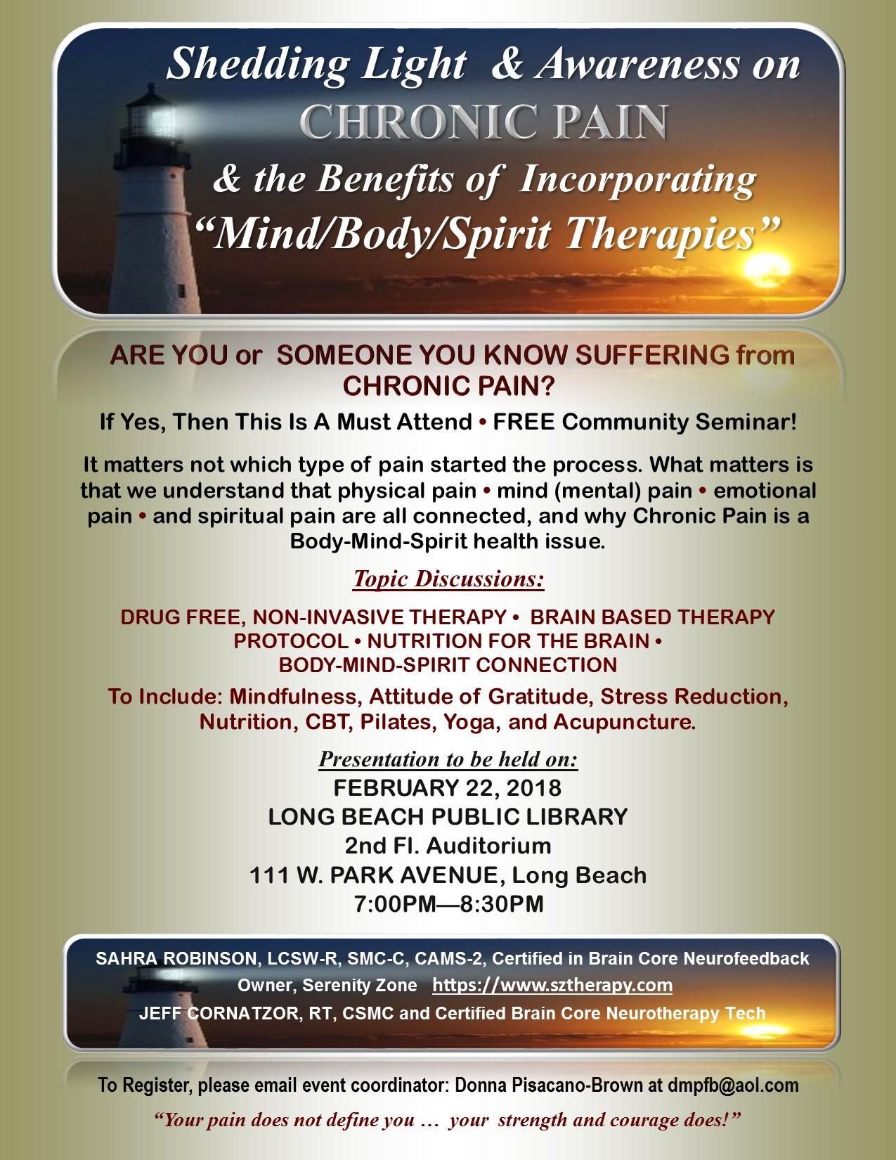 """Addressing Chronic Pain & the benefits of Bo"