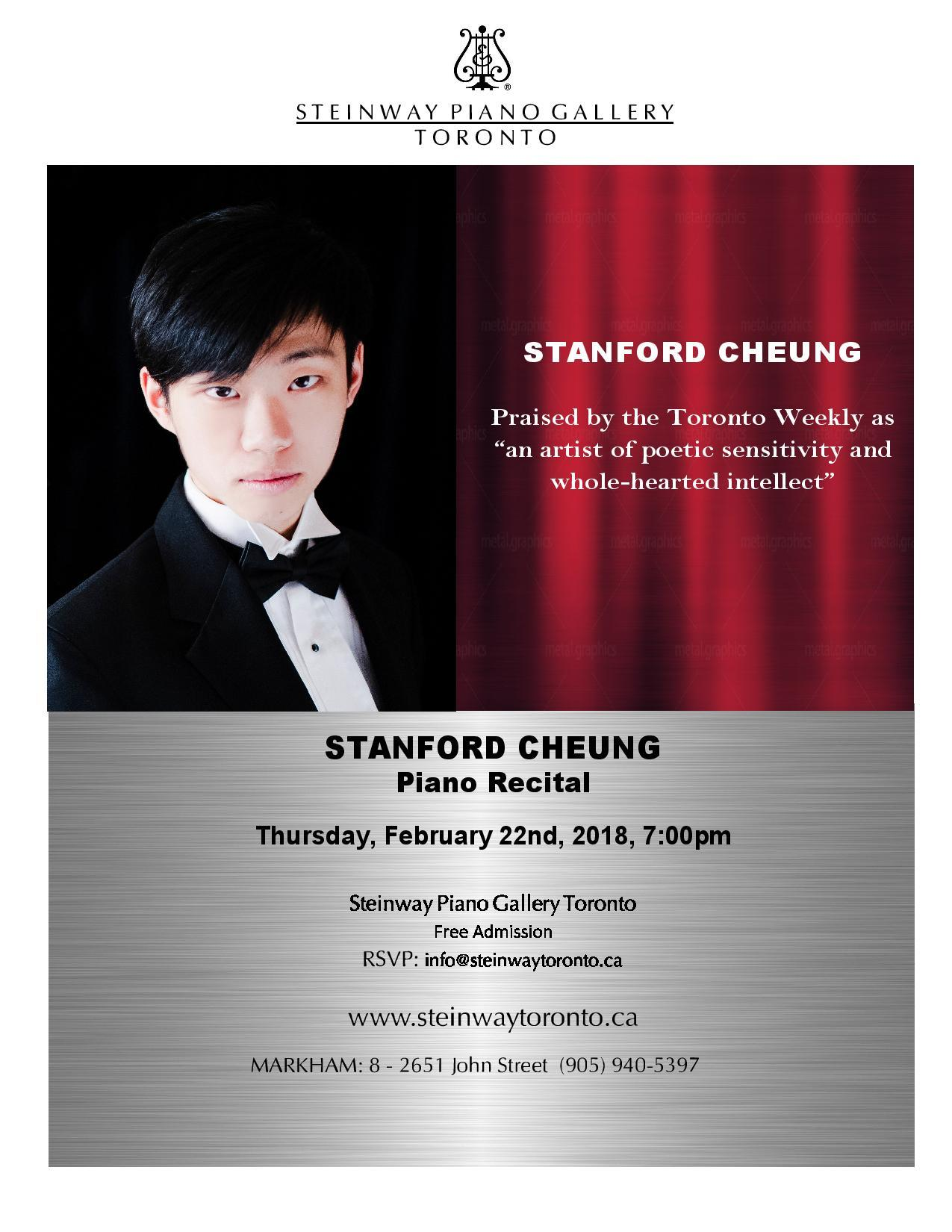 Stanford Cheung Piano Recital