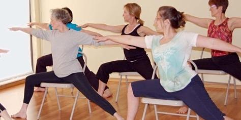 Mid-Day Chair Yoga Fridays at WOC Fitness with Imad Elali.