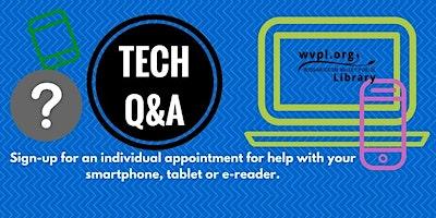 WVPL Tech Q&A at Blue Bell Lib., Wed, Dec. 18, 1-3pm