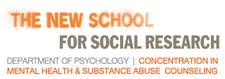 The New School for Social Research, Concentration in Substance Abuse and Mental Health Counseling logo