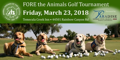 Fore The Animals Golf Tourney Presented By Paradise
