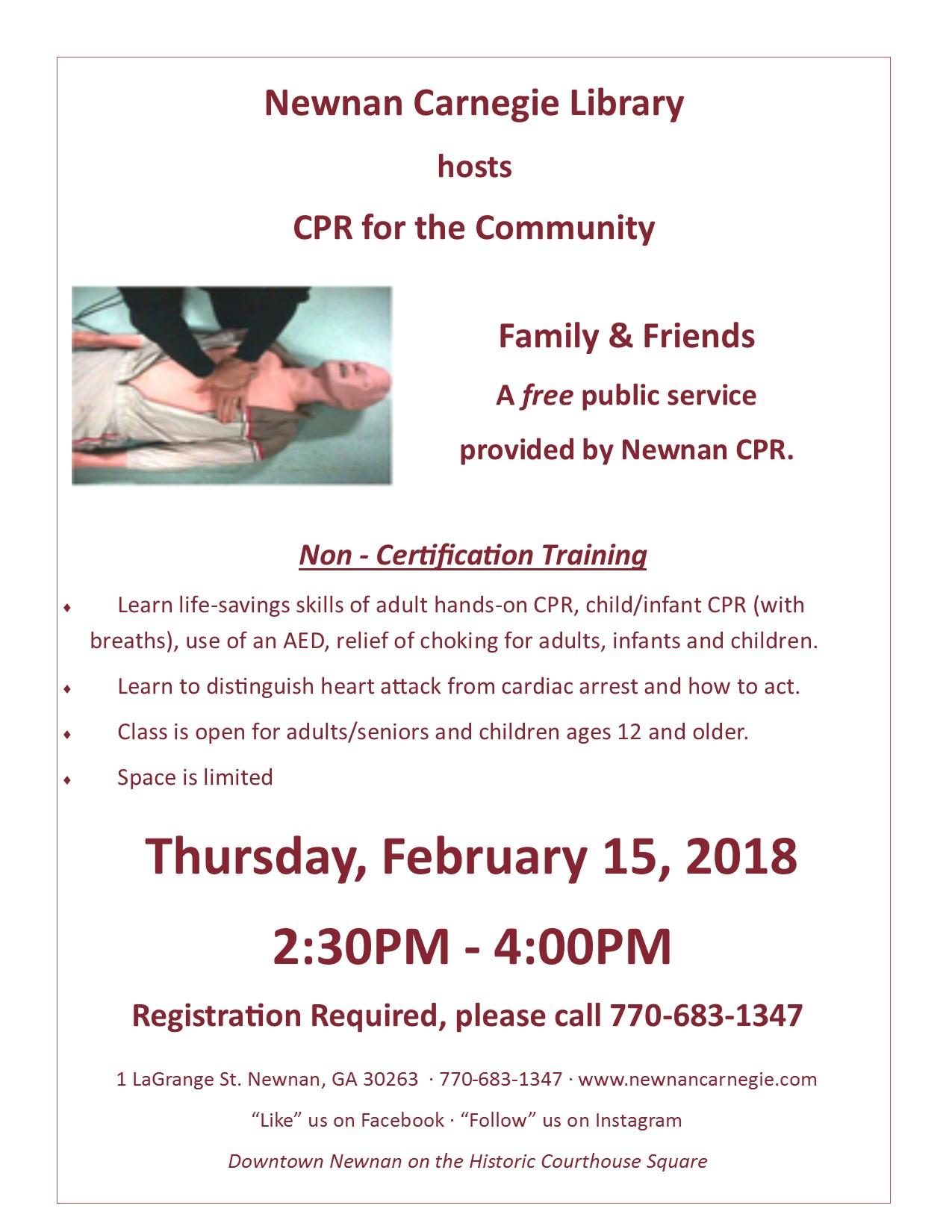 Cpr For The Community 15 Feb 2018