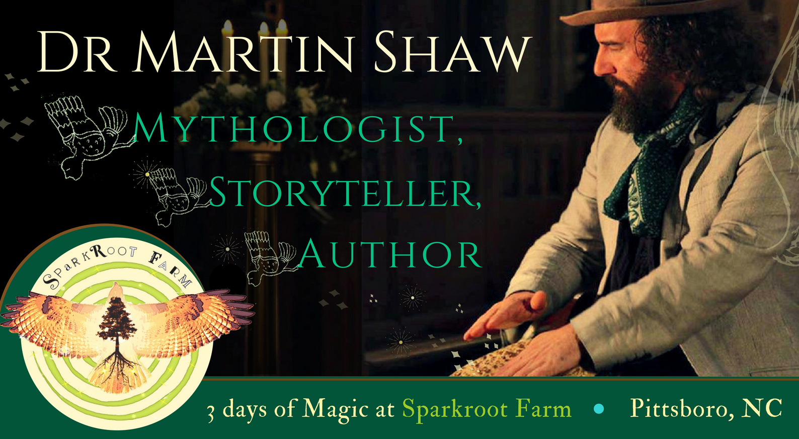 Mythtelling with Martin Shaw - Weekend at Sparkroot Farm