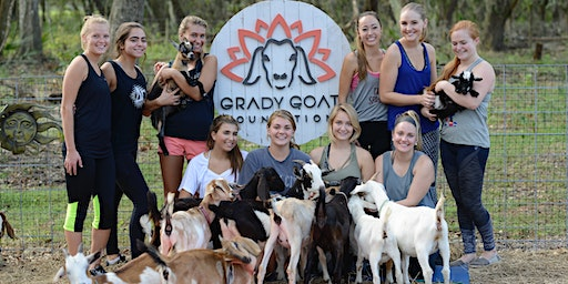 Grady Goat Yoga Tampa Bay supporting Project G.O.A.T. (Anti-Trafficking)