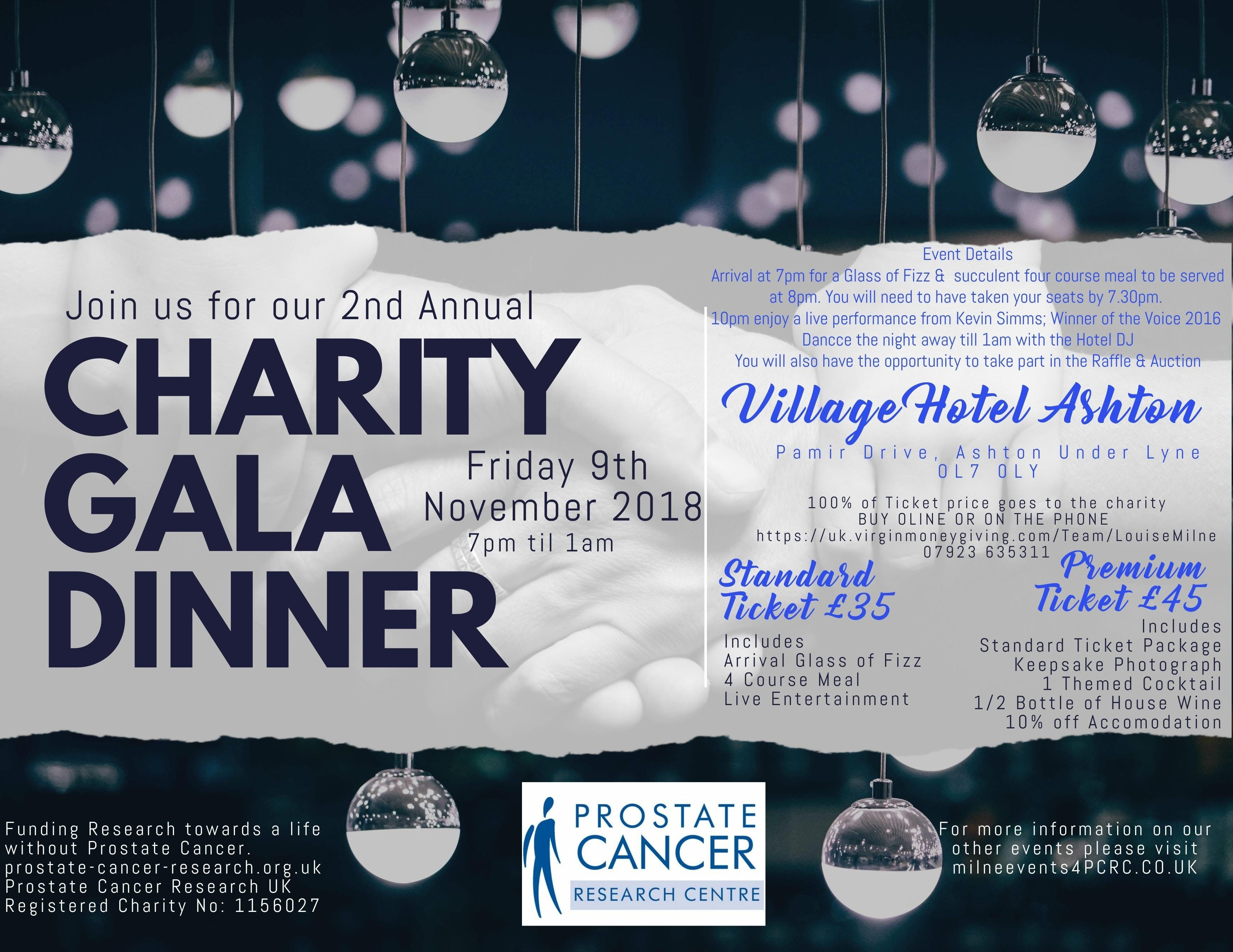 Charity Gala Dinner for Prostate Cancer Resea