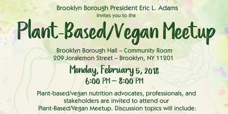 Plant-Based/Vegan Meetup tickets