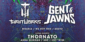 FREE Bass Party w/ GENT & JAWNS + THRIFTWORKS at 1015...