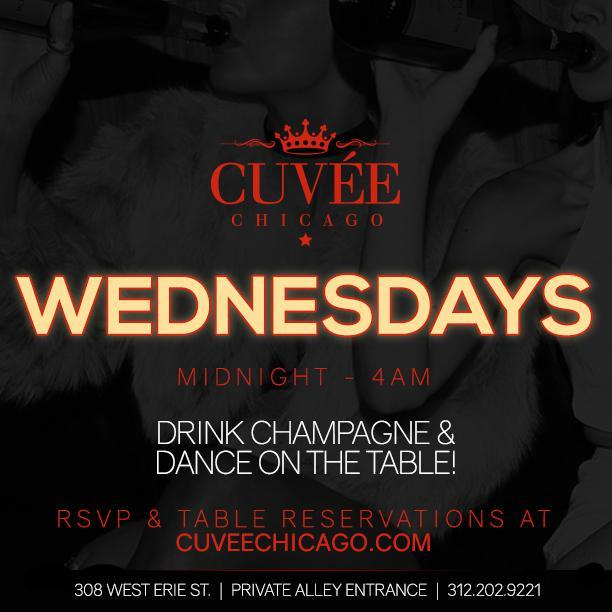 Wednesdays at Cuvee Free Guestlist - 2/21/201