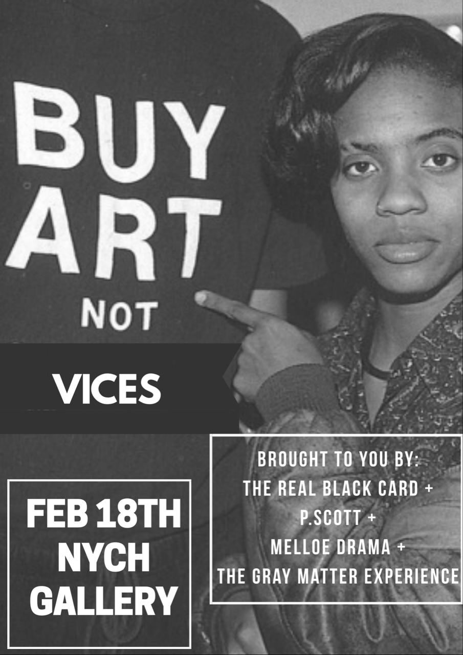 BUY ART, NOT VICES