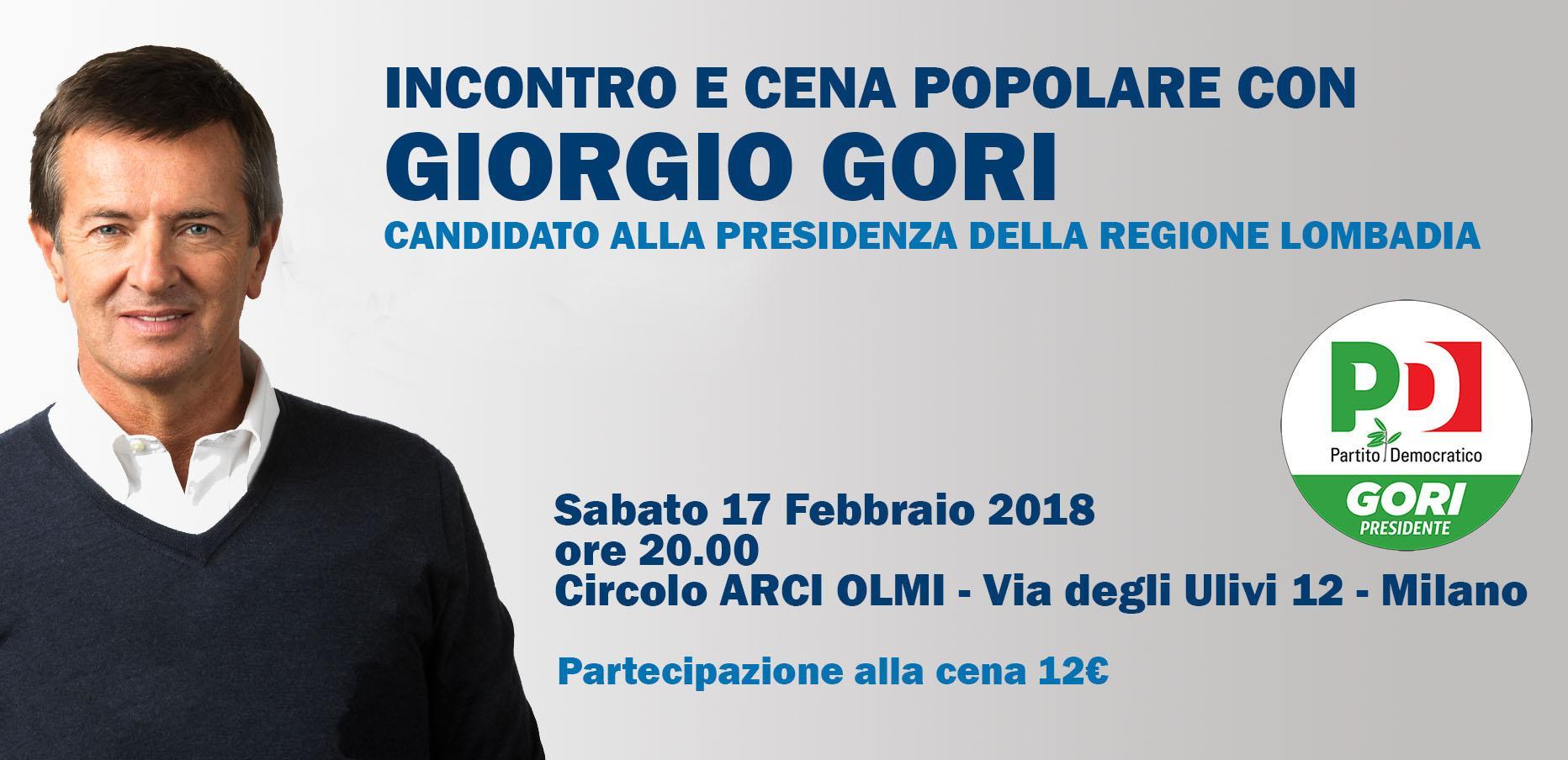 Incontro e Cena Popolare con GIORGIO GORI