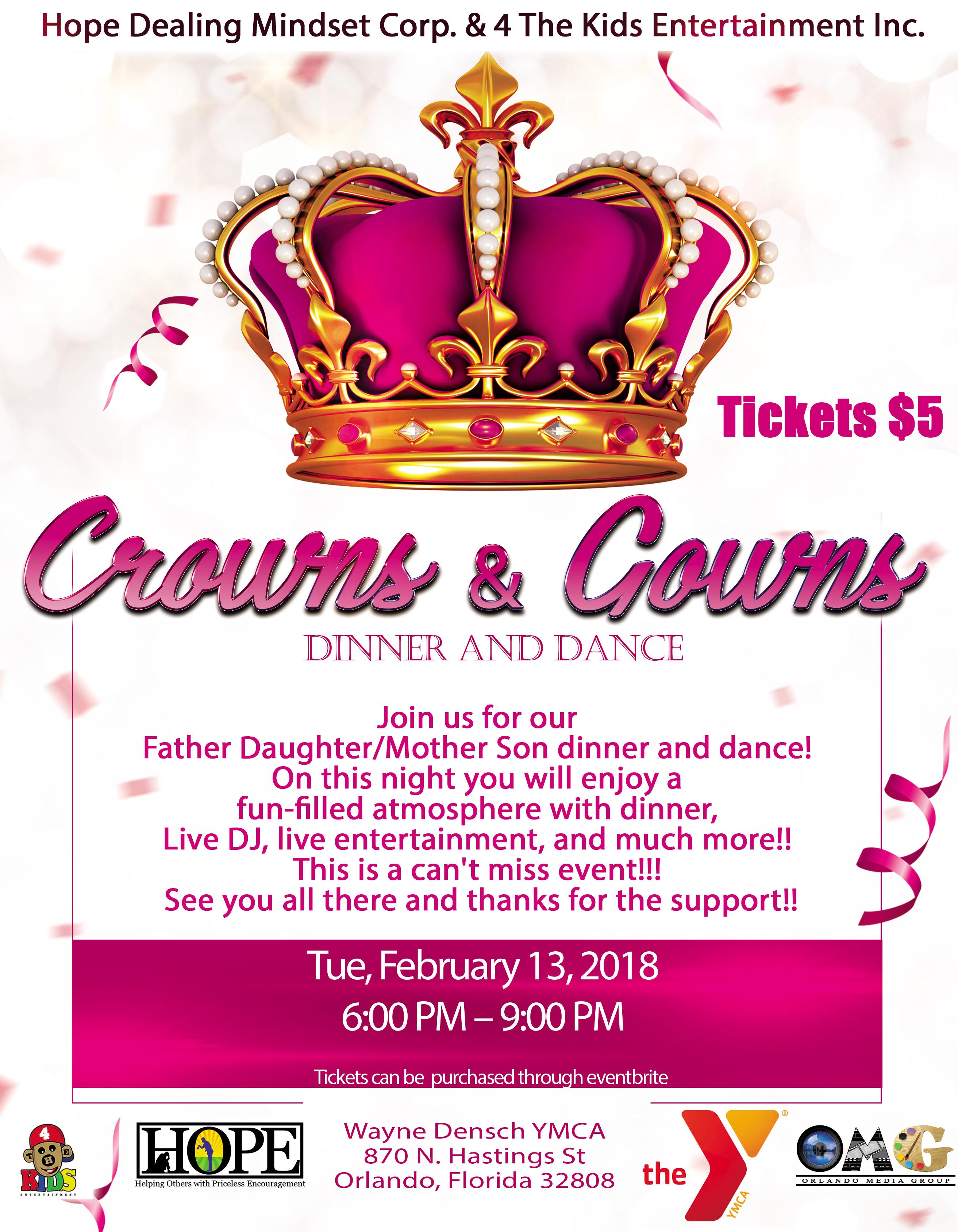 Crowns and Gowns Dinner and Dance - 13 FEB 2018