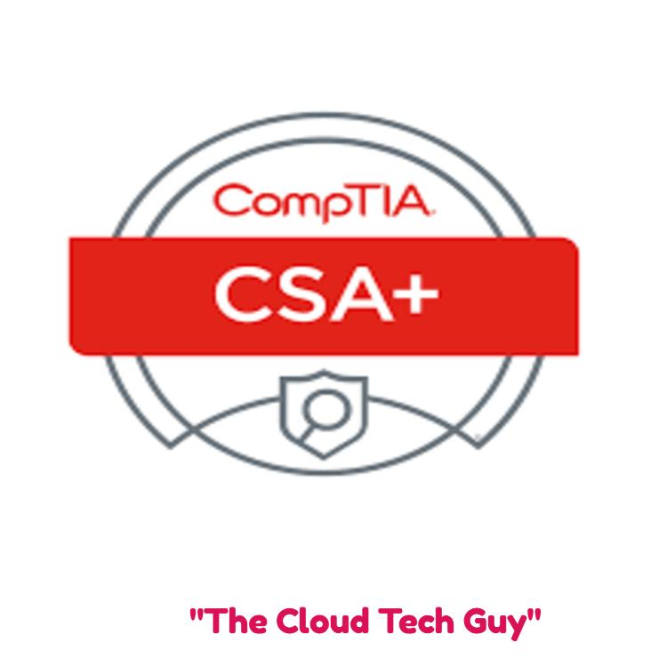 CompTIA CySA+ Cybersecurity Analyst Certifica