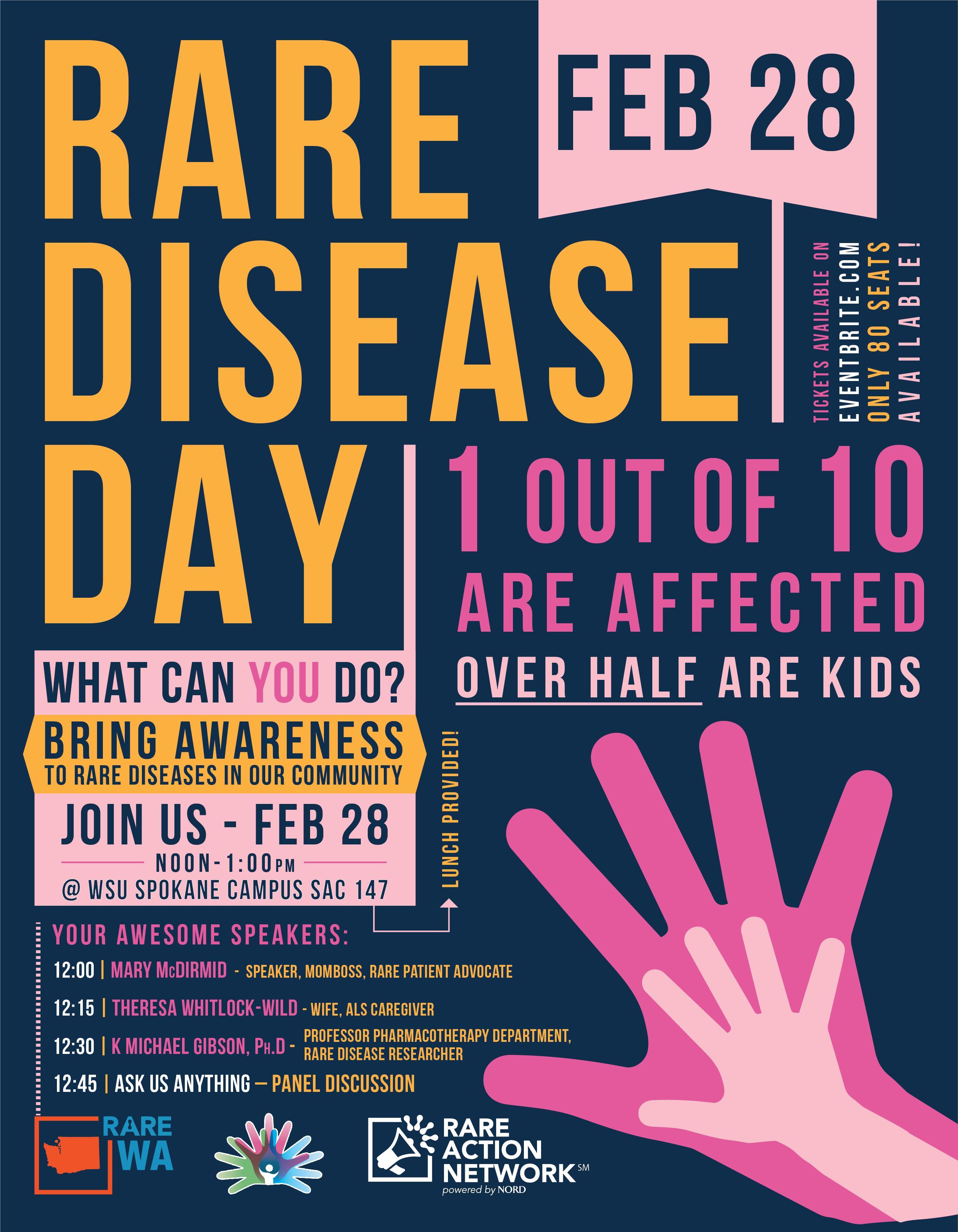 Rare Disease Day Spokane 28 Feb 2018