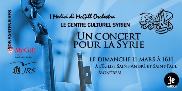 Un concert pour la Syrie 2018