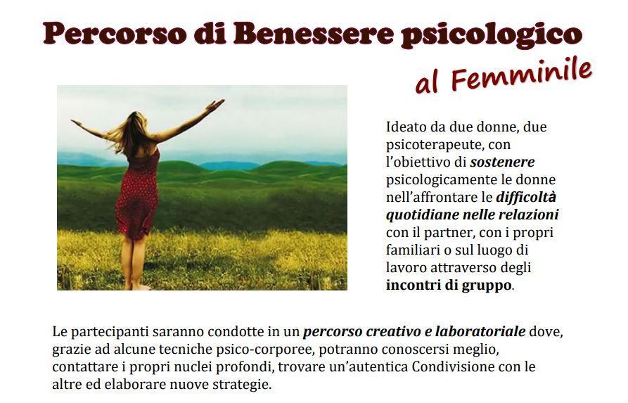 Percorso di Benessere psicologico al femminil