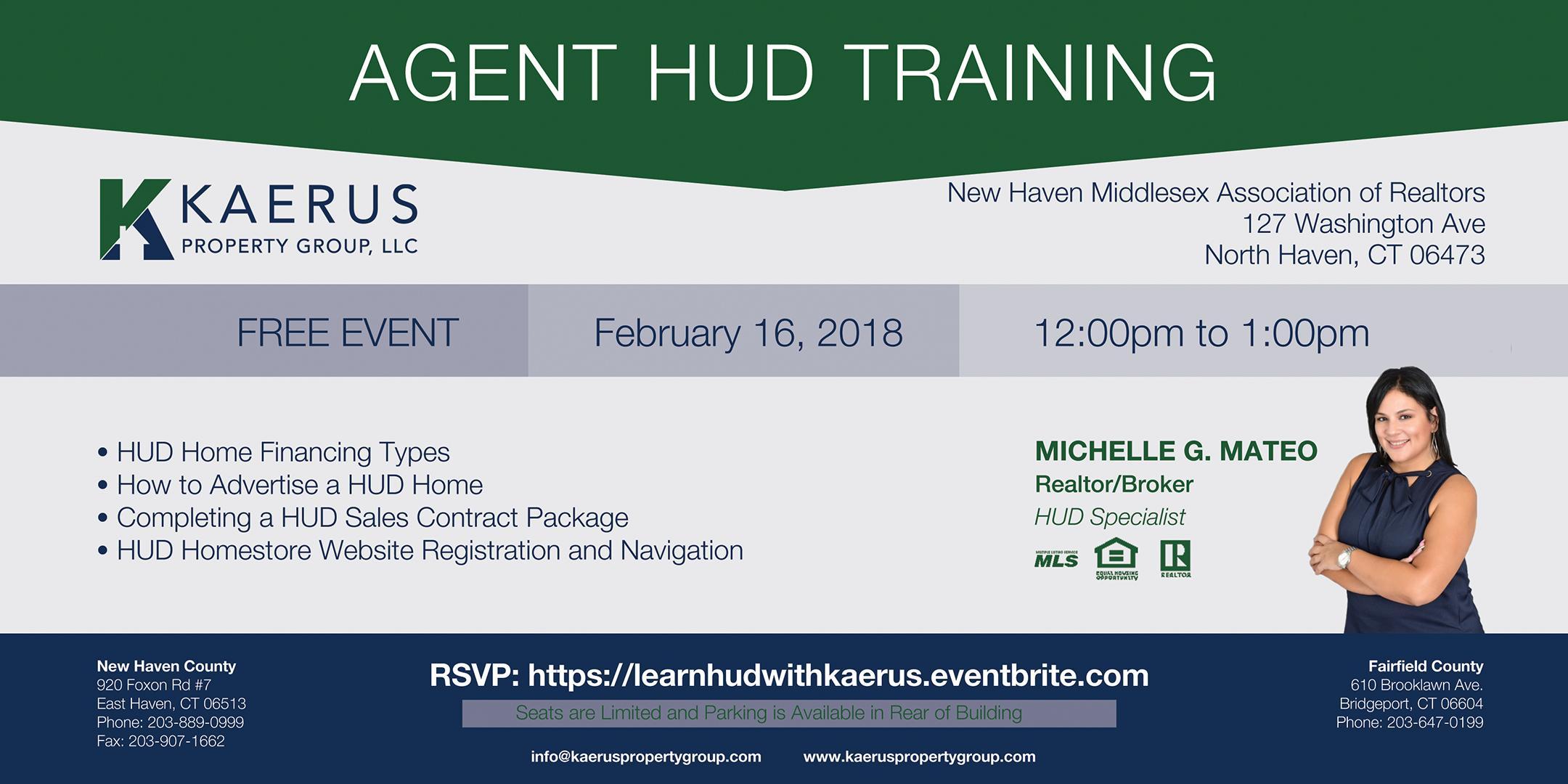 Agent Hud Training 16 Mar 2018
