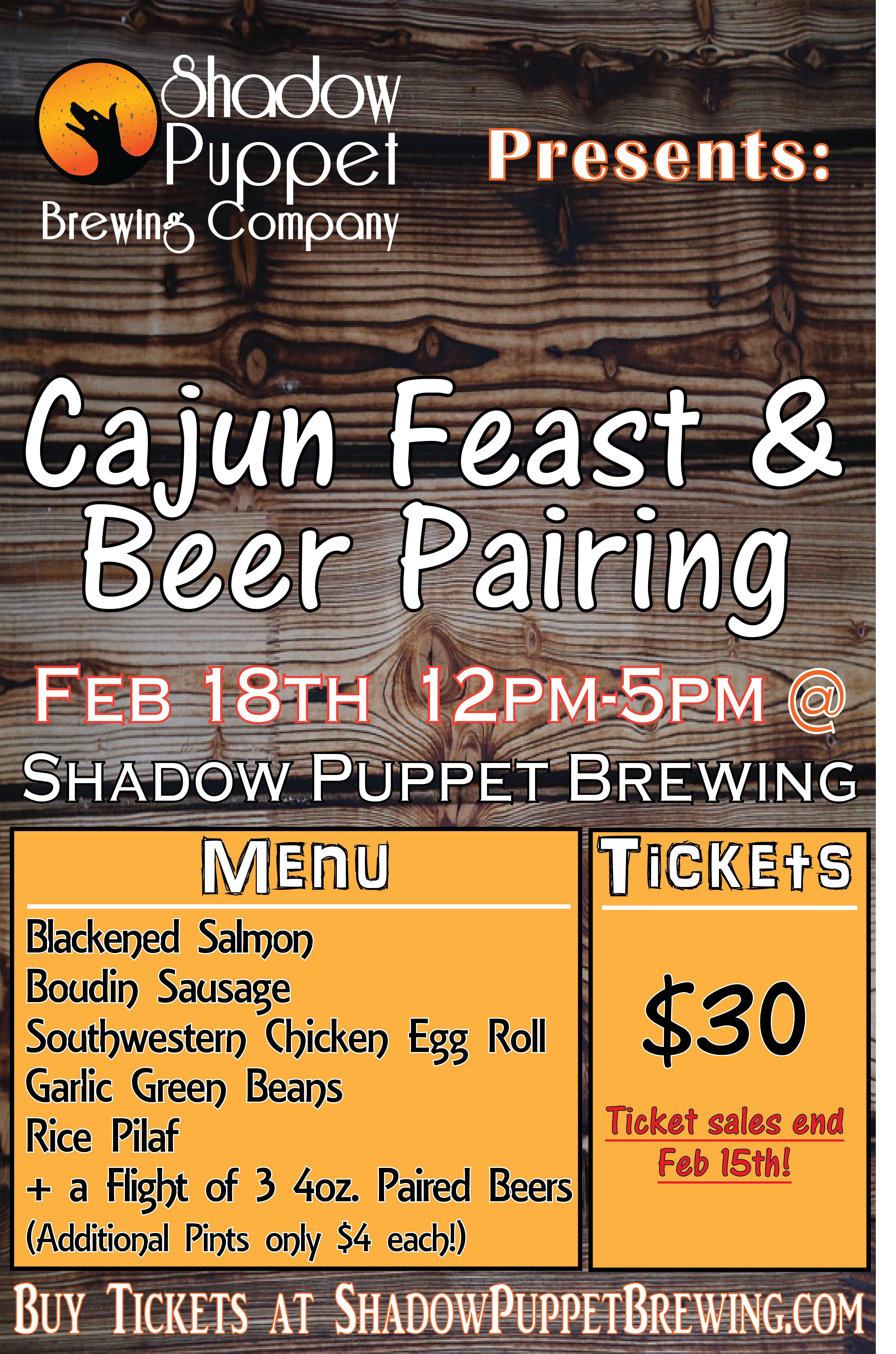 Cajun Feast & Beer Pairing