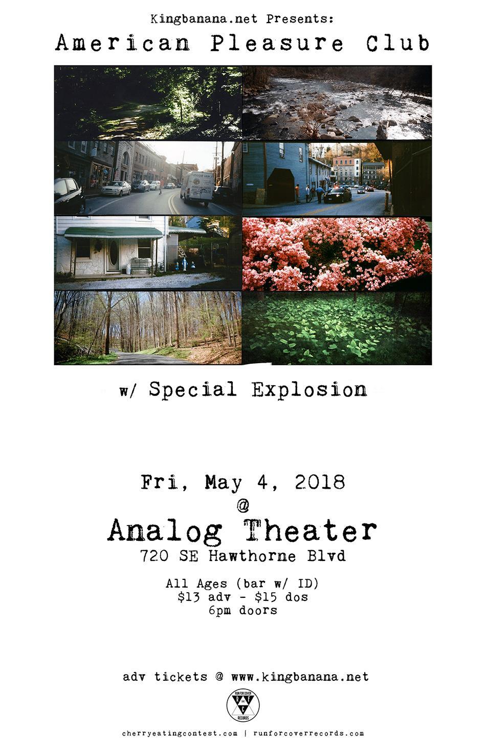 American Pleasure Club (fka Teen Suicide), Special Explosion, & Guests