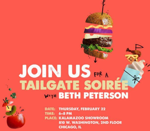 Join us for a Tailgate Soiree with Beth Peterson!