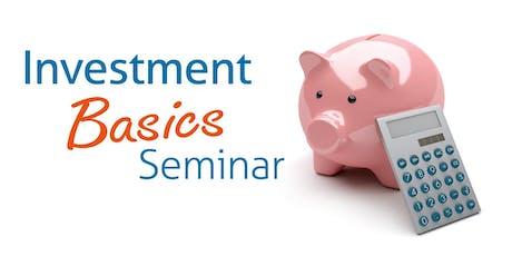 Investment Basics - Atascadero Location tickets