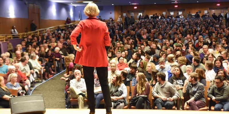Franklin Town Hall with Elizabeth Warren by Elizabeth for MA