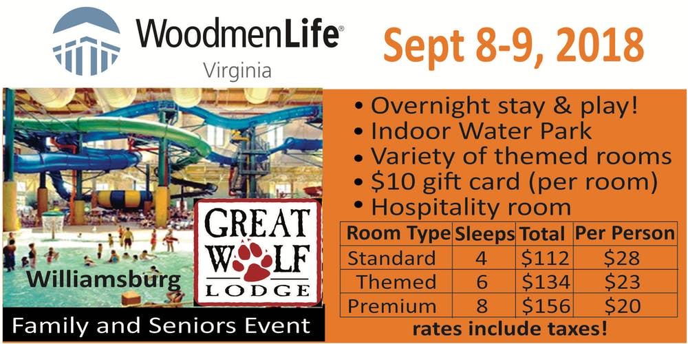 Family Day at Great Wolf Lodge, Williamsburg, Virginia Tickets, Sat ...