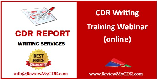 CDR Writing Training Webinar (online) for Migration Skill Assessment for Engineers Australia
