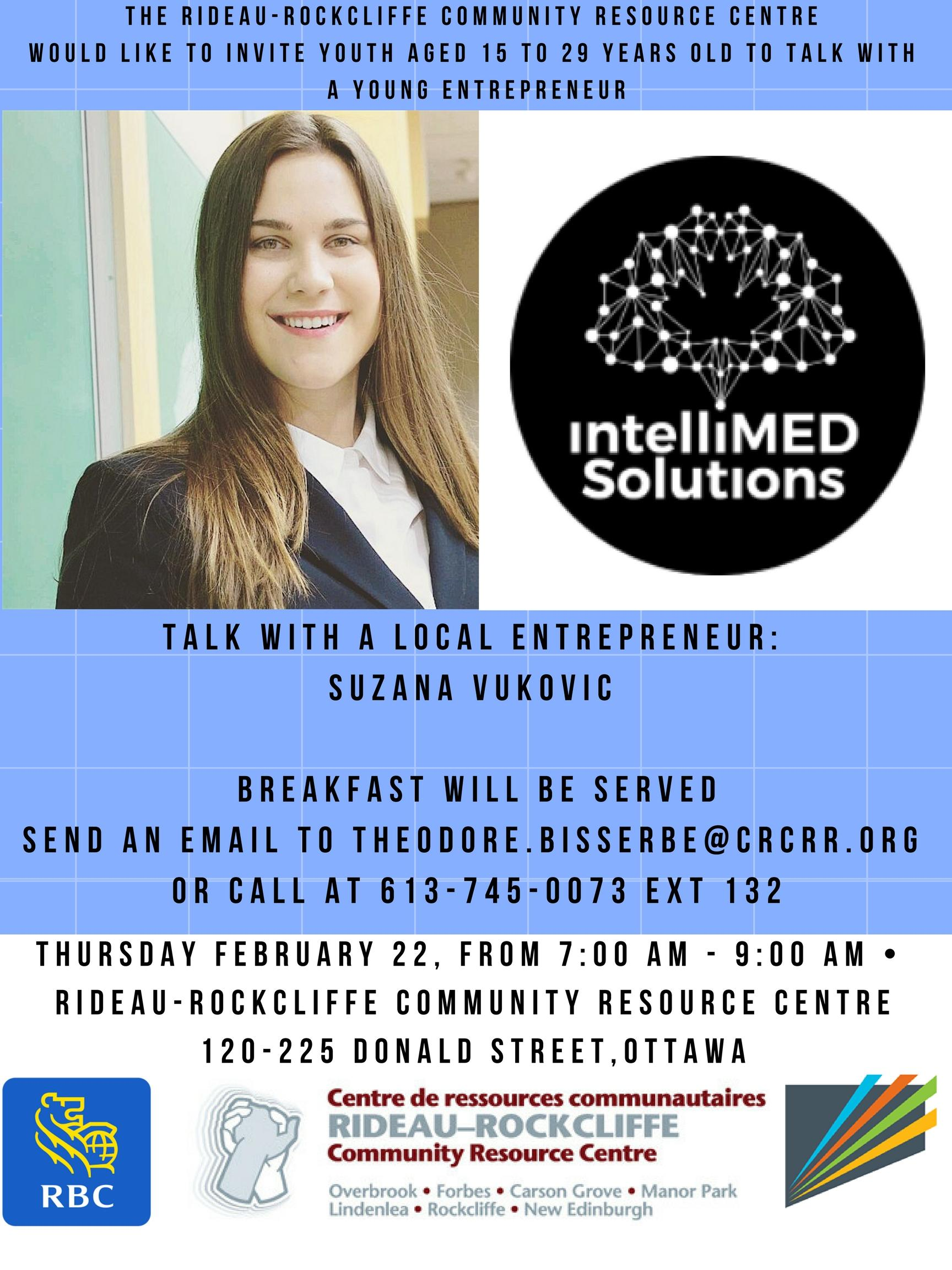 Networking event with a local entrepreneur in