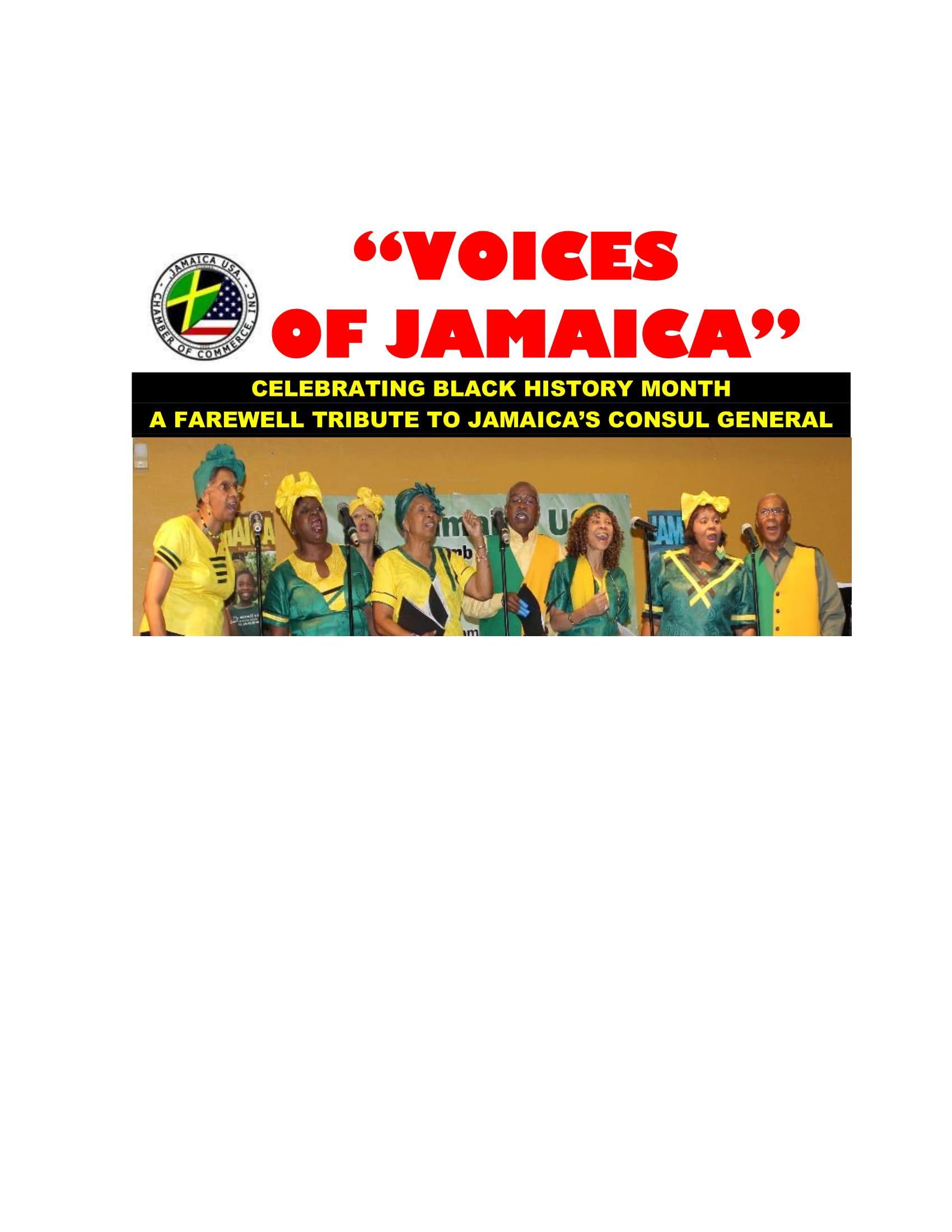 """""""VOICES OF JAMAICA"""""""