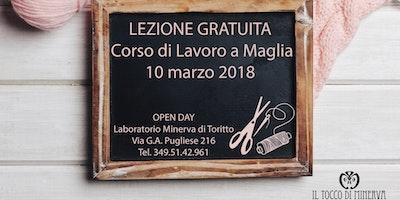 Lezione Gratuita Corso di Lavoro a Maglia e OPEN DAY di presentazione Corsi Minerva