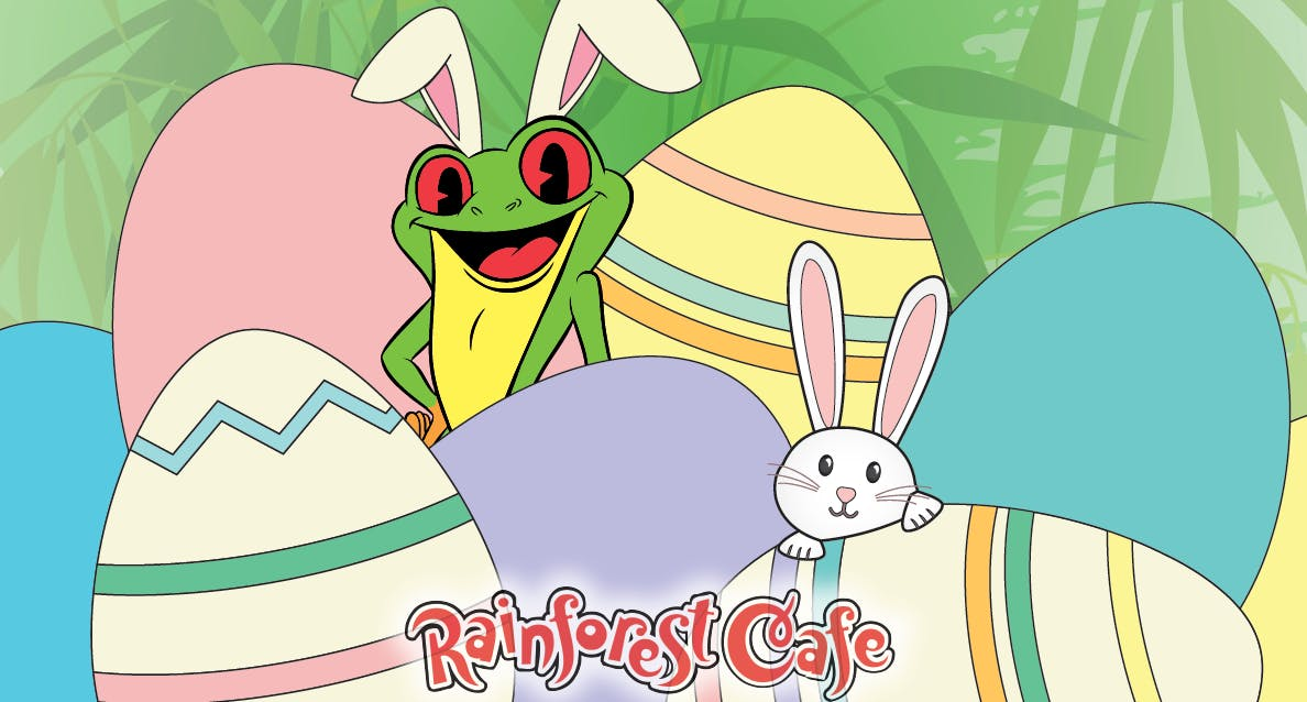 Cha! Cha!'s Egg-Cellent Easter Adventure - Rainforest Cafe Arizona Mills