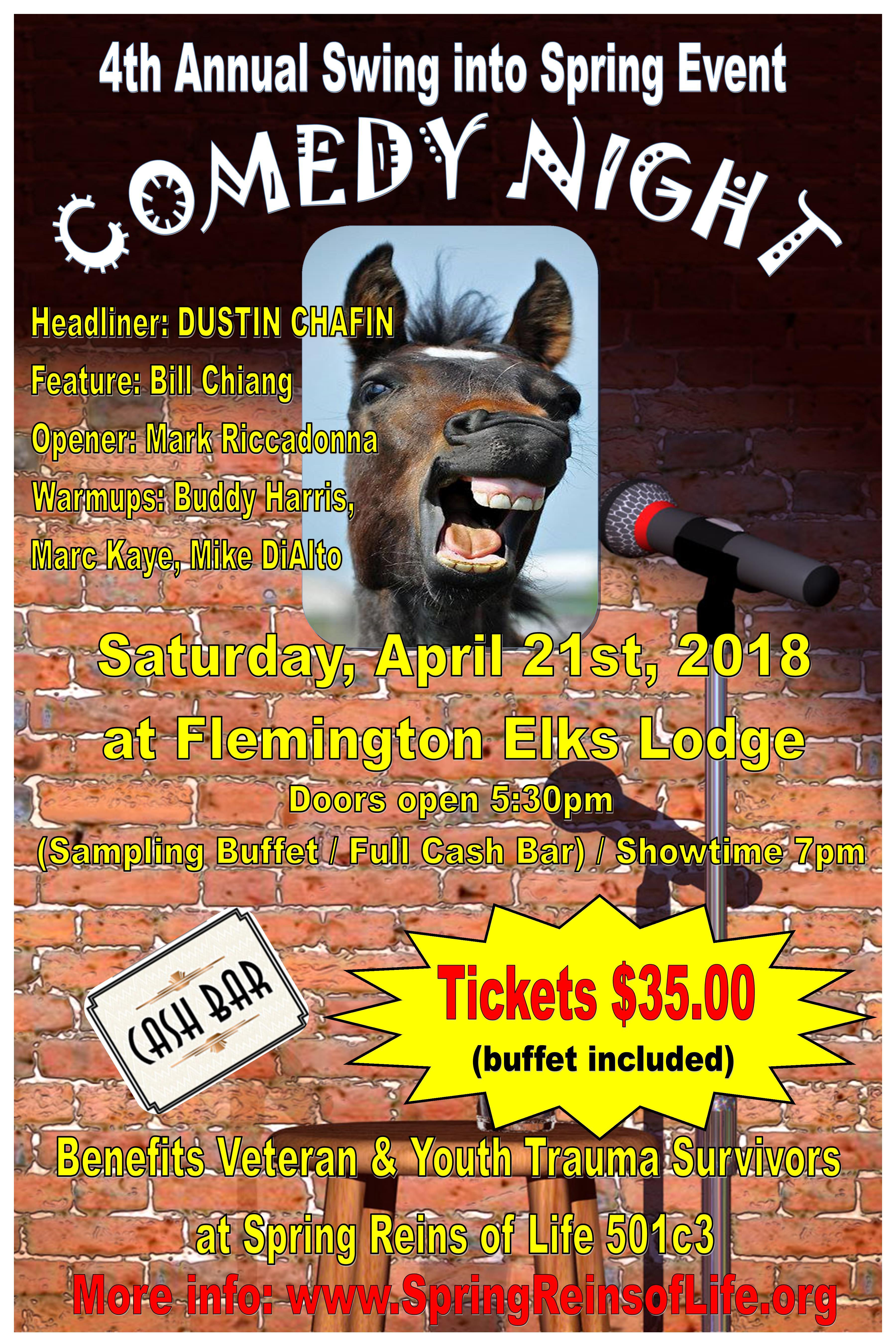 4th Annual Swing Into Spring COMEDY NIGHT