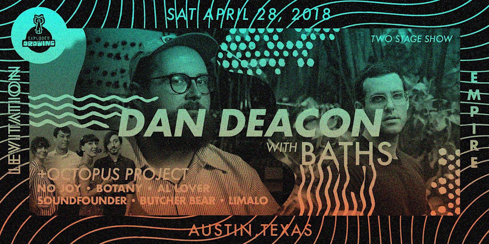 Dan Deacon, Baths, Octopus Project, No Joy, Botany, Al Lover + more