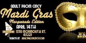 Adult Prom Cincy Mardi Gras Masquerade Edition