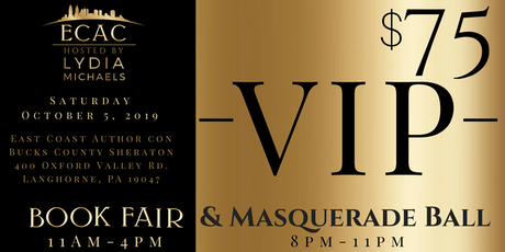 ECAC19 VIP Early Admission Book Fair & Masquerade Ball (VIP) tickets