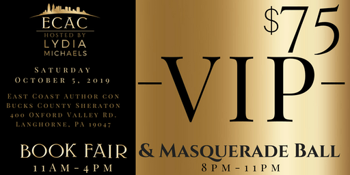 ECAC19 VIP Early Admission Book Fair & Masquerade Ball (VIP)
