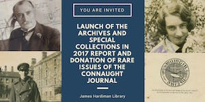 Launch of The Archives and Special Collections in 2017...
