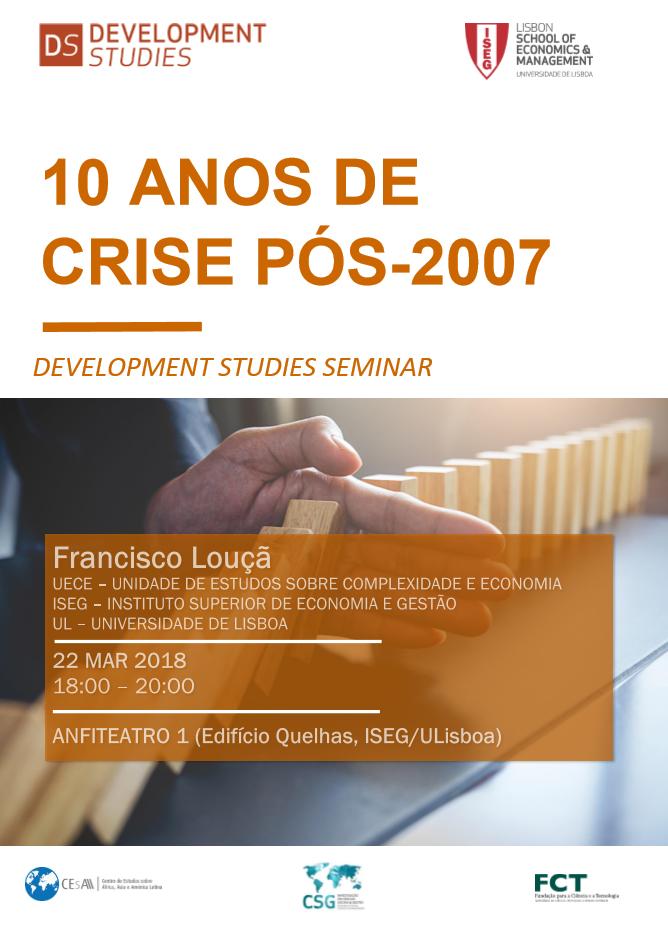 DS Seminar: 10 Anos de Crise Pós-2007