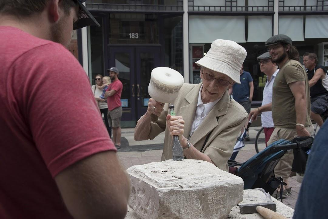The Pre-Canadian Stone Carving Festival Cour