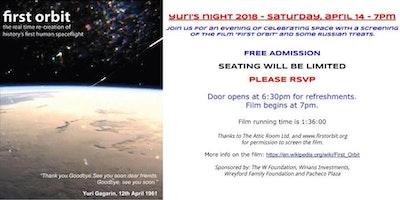 "YURI'S NIGHT 2018 - Screening of ""First Orbit"""