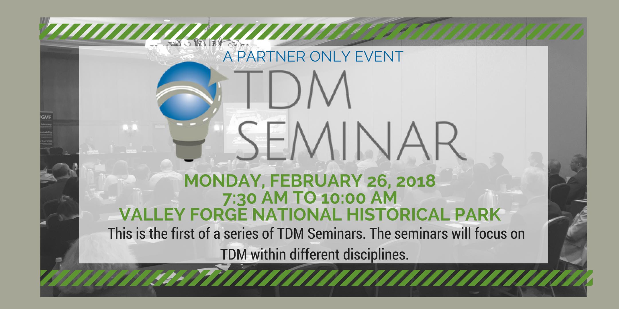 TDM Seminar - A Partner Event