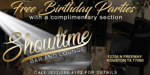 Free Birthday Party at Showtime Bar and Lounge