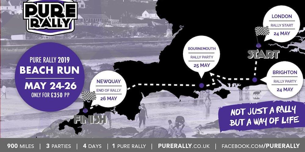 d21633a33 Pure Rally beach run 2019 Tickets