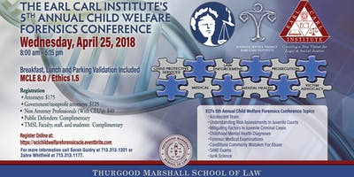 The Earl Carl Institute's 5th Annual Child Welfare Forensics Conference
