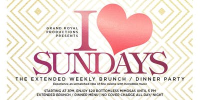 I LOVE Sundays - Brooklyn's Weekly Premier Brunch / Dinner Party