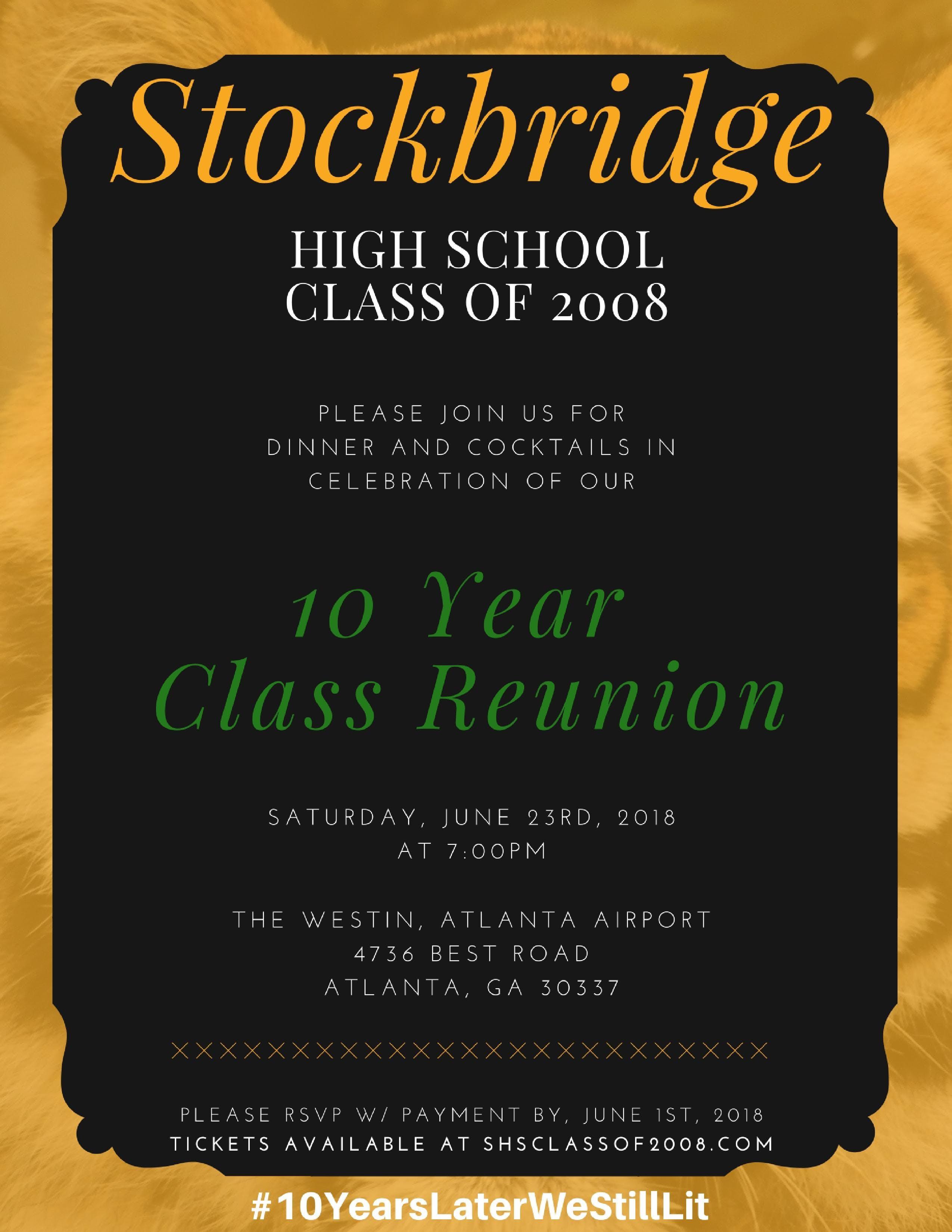 SHS Class of 2008, 10 Year Reunion
